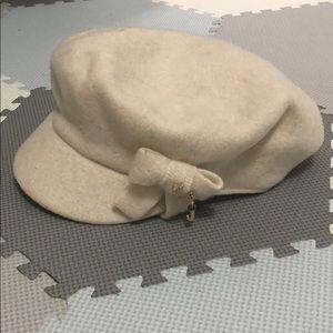 Juicy Couture Messenger Cap style cream hat